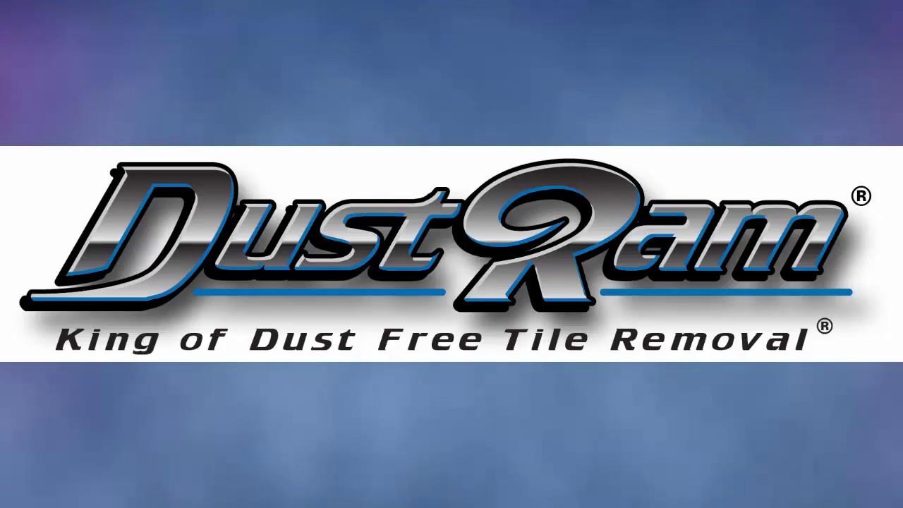 Travertine Tile Removal Tools - DustRam® vs Dust Commander® - YouTube