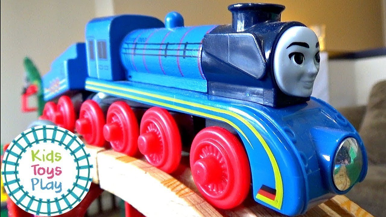 Thomas the Train Mystery Wheel Downhill Train Races Compilation