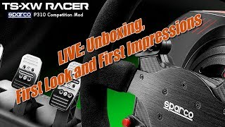 Thrustmaster TS-XW Racer Sparco racing wheel - Unboxing, First Look and First Impresssions