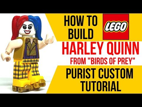 How To Build Lego Harley Quinn From Birds Of Prey Youtube