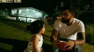 Virat Kohli with BABY Dhoni 😋😋 it's cute 🤗🤗