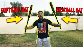 Is A Baseball Bat Better Than A Softball Bat? IRL Challenge