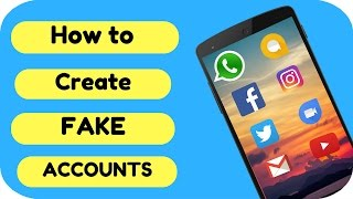 How to create Fake🤘 Whatsapp, Facebook, Instagram, Twitter, Gmail, telegram etc. Accounts