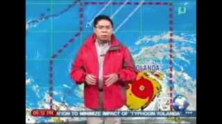 [NewsLife] Weather Forecast: YOLANDA at 453 Kms. Southeast of Guiuan, E. Samar || 11/7/13