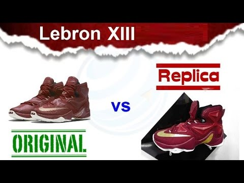 1d34b6effb9 Original vs fake Nike Lebron XIII replica sneakers Spanish continues to  raise your level!