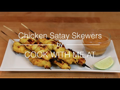 Chicken Satay Skewers - Grilled on the Napoleon TravelQ PRO - COOK WITH ME.AT