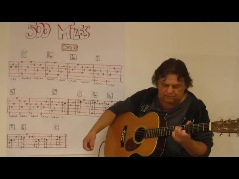 Fingerstyle Guitar Lesson #92: 500 MILES (AWAY FROM HOME)