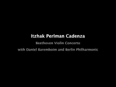 Itzhak Perlman cadenza, Beethoven violin concerto