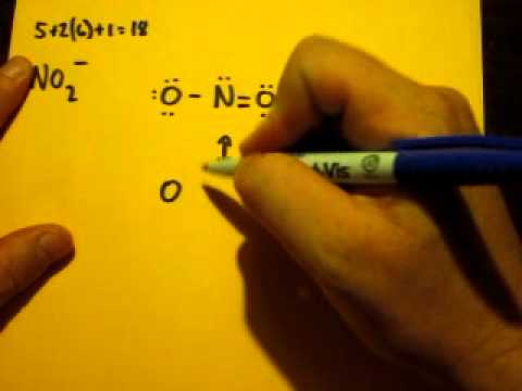 Lewis Dot Structure of NO2- (Nitrite Ion) - YouTube