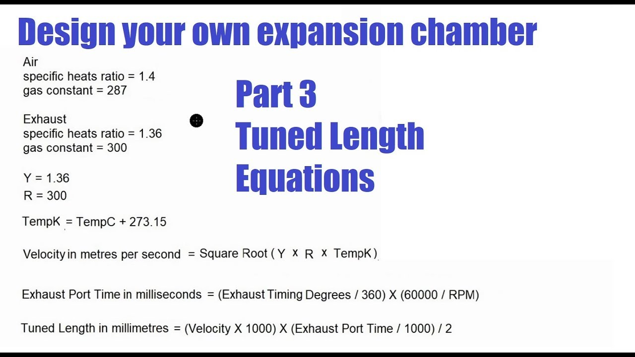 How to Design a Two Stroke Expansion Chamber Performance Exhaust - Step 3