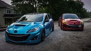 Partners in Crime - Bagged and Static Mazdaspeed 3