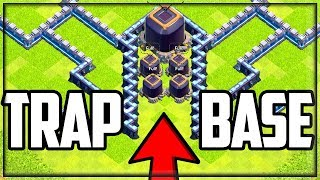 HILARIOUS DARK ELIXIR TRAP BASE 2.0! Clash of Clans Defense TROLLS Attackers!
