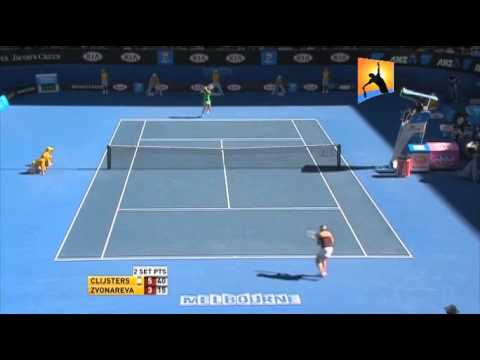 [HL] Kim Clijsters v. Vera Zvonareva 2011 Australian Open [SF]