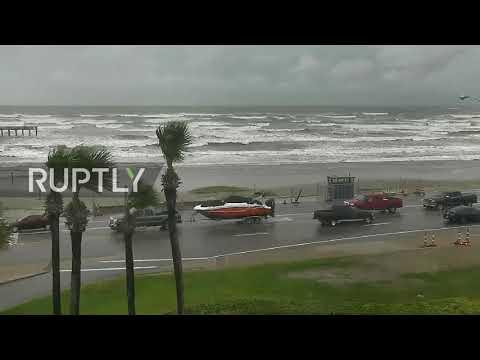 USA: Hurricane Harvey nears Galveston, state-of-emergency declared