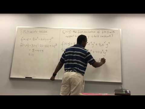 Multivariate partial derivatives