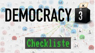 Checkliste: Democracy 3 [ Test / Gameplay / Deutsch / HD / PC ]