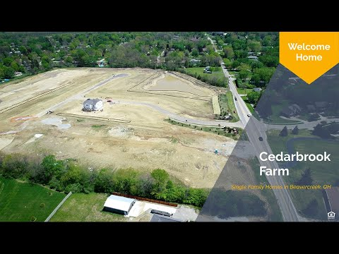 Cedarbrook Farm Aerial Tour | New Homes In Beavercreek, OH
