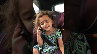 5-year-old Ella's comedic timing is impeccable on this improv fake phone call
