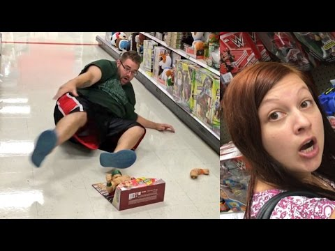 EMBARRASSING HUSBAND BREAKS WWE TOYS AT TARGET!