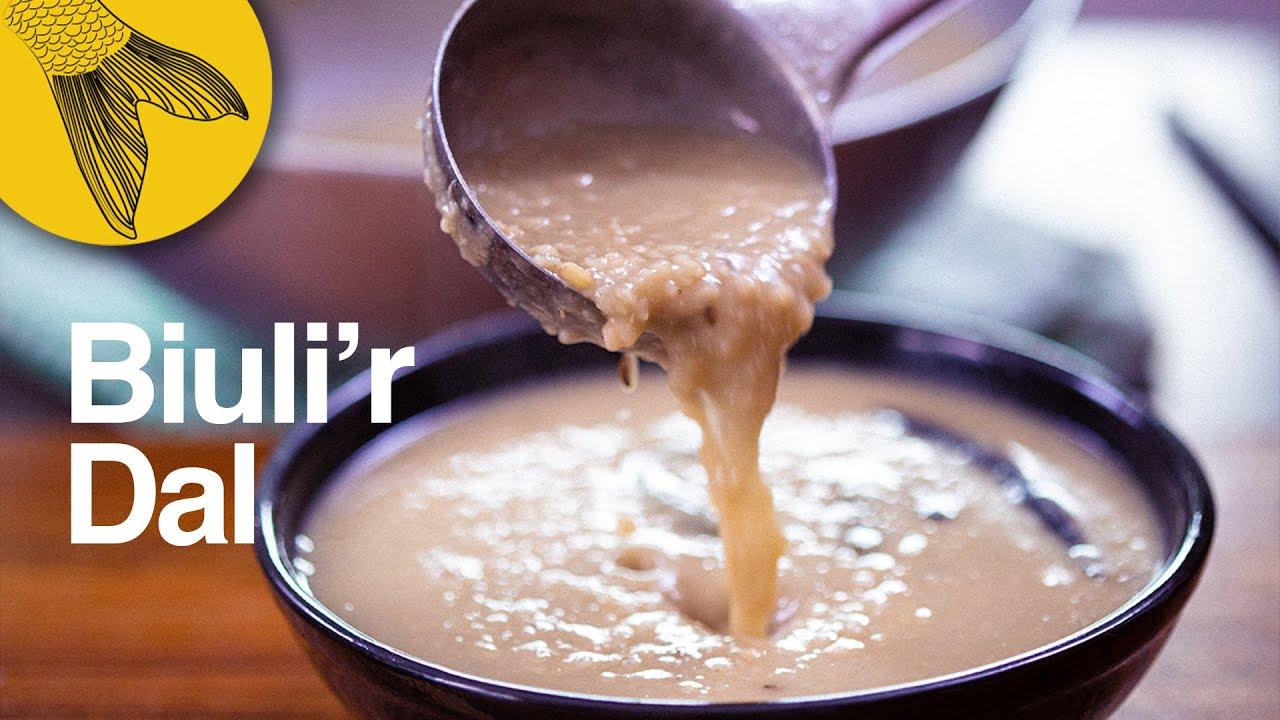 Biulir dal or Kolai'er dal—easy Bengali dal recipe with fennel and ginger—Mashkolai er dal