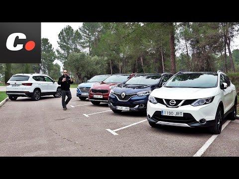 Seat Ateca vs Nissan Qashqai, Hyundai Tucson, Kia Sportage, Renault Kadjar   Prueba SUV 4×4