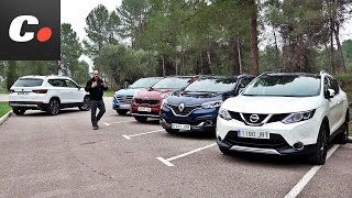 Seat Ateca Vs Nissan Qashqai, Hyundai Tucson, Kia Sportage, Renault Kadjar   Prueba Comparativa SUV