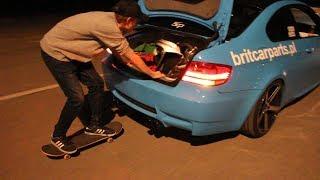 Jazda na desce za BMW M3
