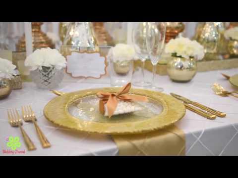 WEDDING DECORATIONS IDEAS || WEDDING CEREMONY DECORATIONS ||GOLD AND WHITE OPULENCE WEDDING