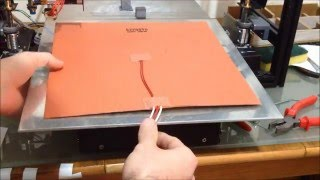 3D Printer Silicone Heated Bed Unboxing