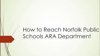 Contact Norfolk Public Schools ARA