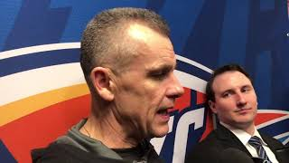 Thunder vs Pelicans - Billy Donovan