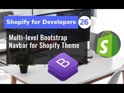 26 - Multi-level Bootstrap 4 Navbar for Shopify Theme thumbnail