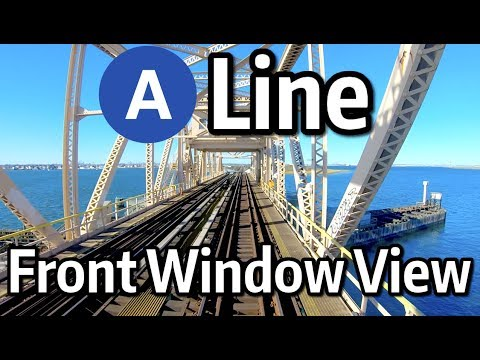 ⁴ᴷ⁶⁰ NYC Subway Front Window View - The A Line To 207th Street