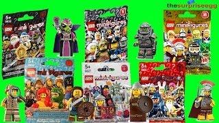 LEGO Minifigure Blind Bags series 5 series 6 series 7 series 8 series 9 series 10 opening
