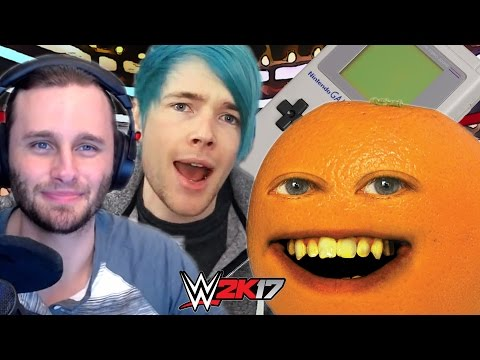 DANTDM and SSUNDEE VS ANNOYING ORANGE and RETRO GAMEBOY | WWE 2K17