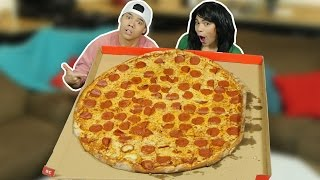 """EXTREMELY LARGE 36"""" Pizza Challenge! (Ft. Trixie)"""