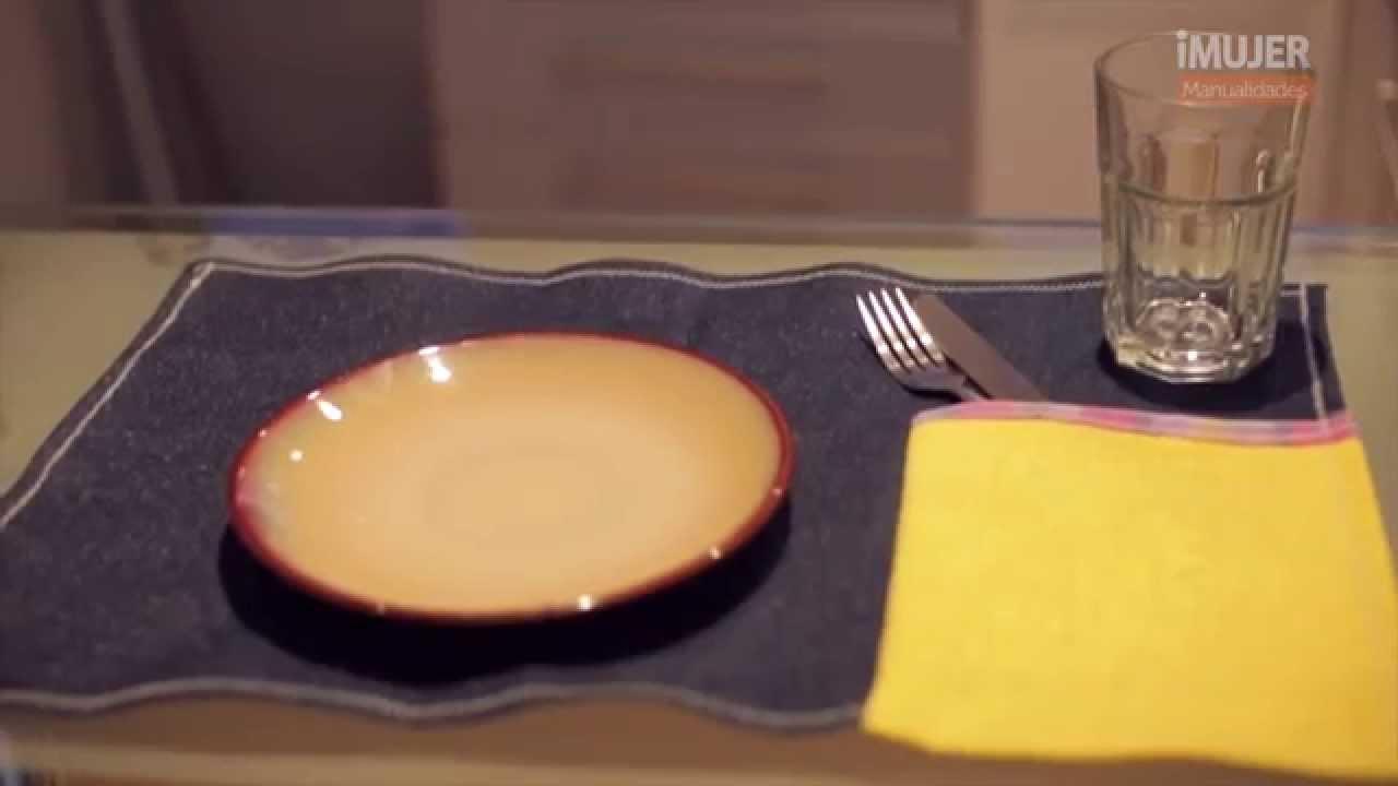 Originales individuales para la mesa imujerhogar youtube - Individuales para mesa ...