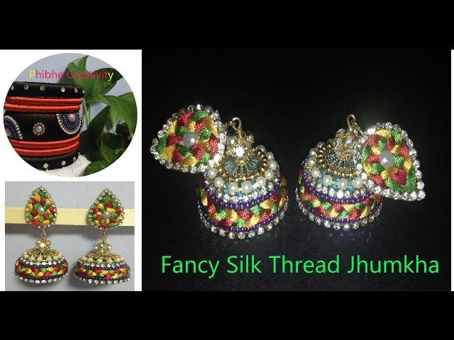 How To Make Fancy Silk Thread Jhumka