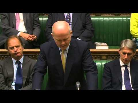 Syria breakthrough possible, William Hague tells Commons   YouTube
