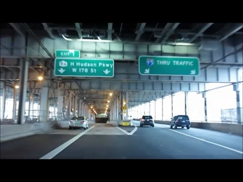 ENTERING MANHATTAN ON GEORGE WASHINGTON BRIDGE FROM NEW JERSEY