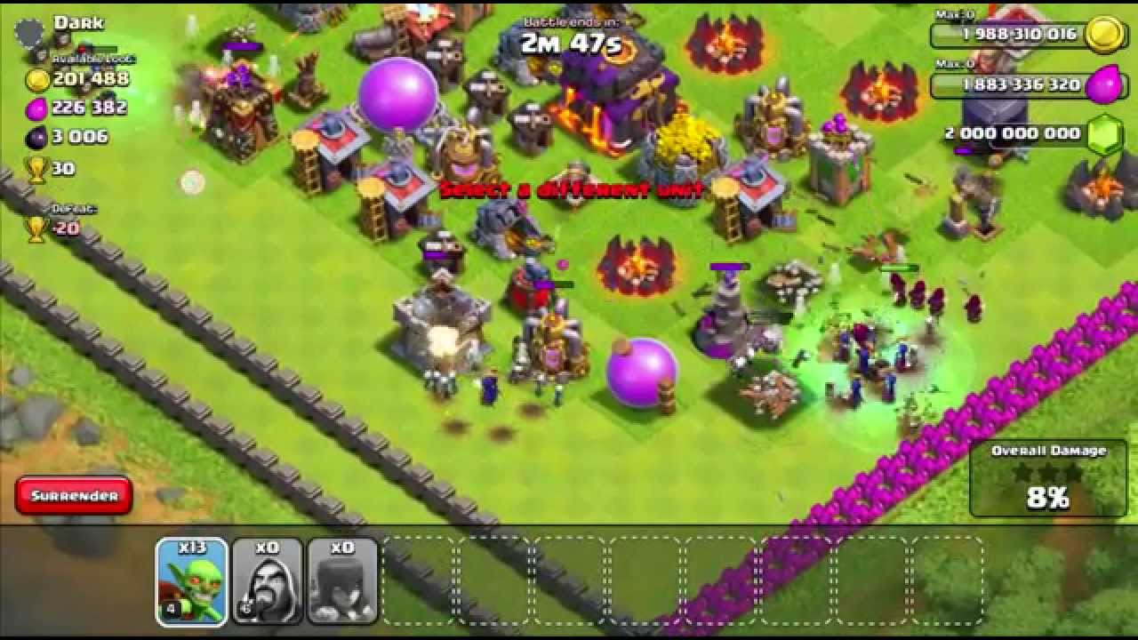 Clash of Clans Unlimited Mod with PvP By ONHAX NET