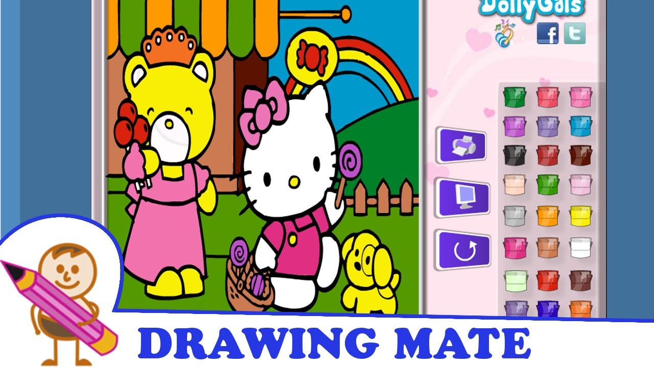 Hello Kitty Coloring Pages Book Kolorowanki Malowanki Dla Dzieci