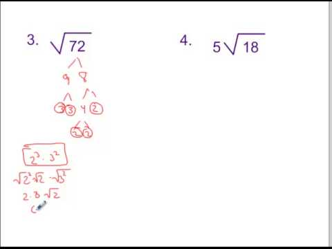 6.1 Simplest Radical Form - YouTube