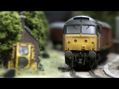 British Model Railway Layout in OO Gauge with Cab Ride