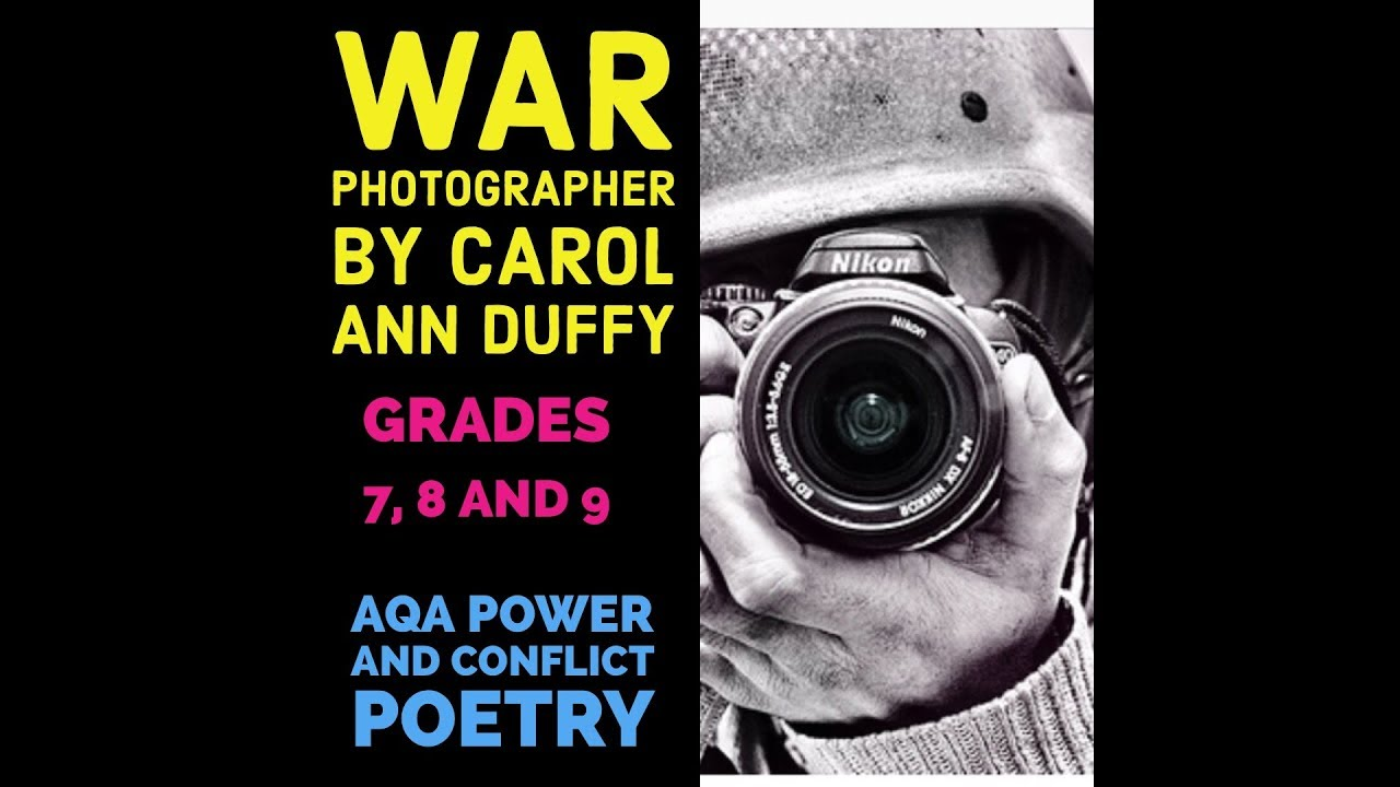 carol ann duffys stealing and war photographer A powerpoint containing some context, an explanation of the poem and a written activity at the end based on the pee principle.