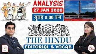 The Hindu Editorial Analysis | By Ankit Mahendras & Yashi Mahendras | 27 JAN 2020 | 8:00 AM