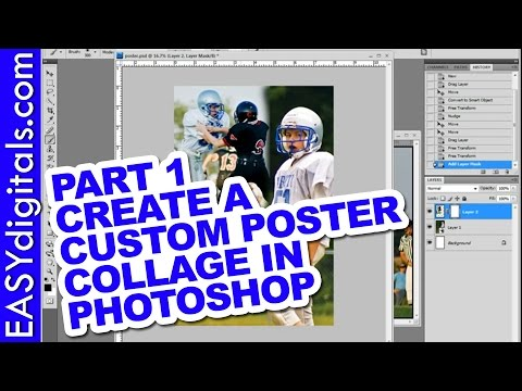 part 1 of 3 create a custom poster collage in photoshop youtube