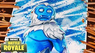 Drawing Fortnite Battle Royale Trog New Yeti Skin Season 7 / Dibujando Fortnite