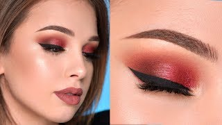 Warm-Toned Smokey Eye Makeup Tutorial