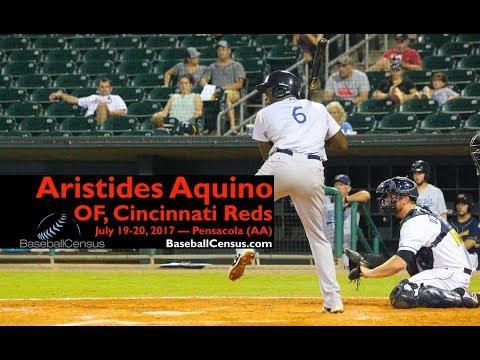 Aristides Aquino, OF, Cincinnati Reds — July 19-20, 2017